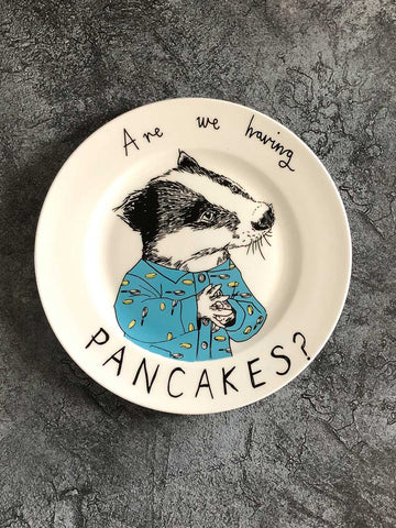 Are we having Pancakes? - Side Plate classic homeware jimbobart