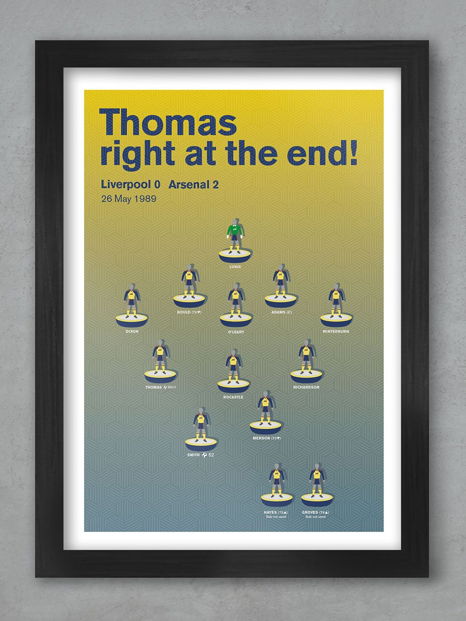 Arsenal '89 - Football Poster Print