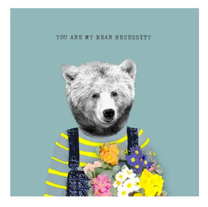 Bear Necessity - Blank Greeting Card card The Northern Line