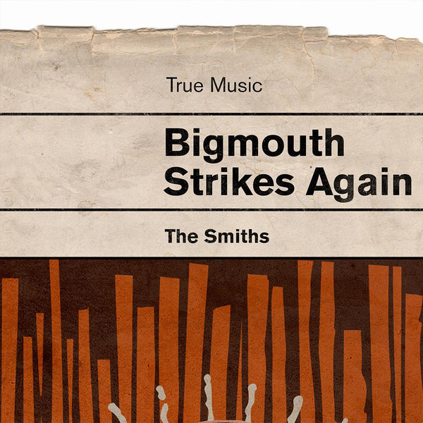Bigmouth Strikes Again - Smiths Book Jacket Music Print. Inspired by the old retro Penguin book covers