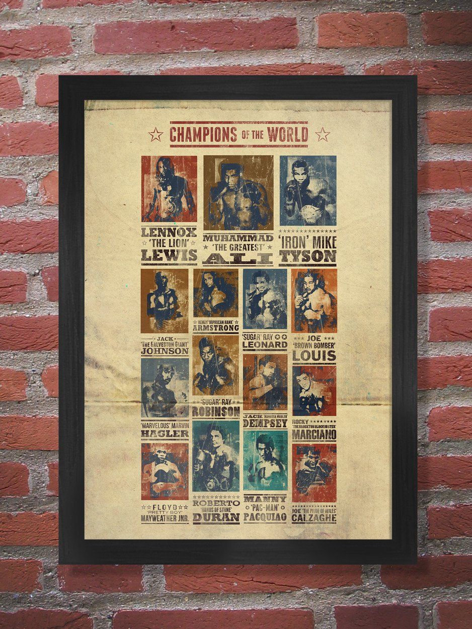 Champions of the World Boxing Poster