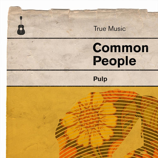 Common People - Pulp Book Jacket Print. Inspired by the old retro Penguin book covers