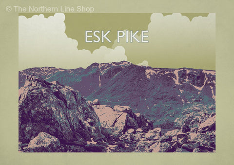 Esk Pike - The Lake District Fells Poster Print