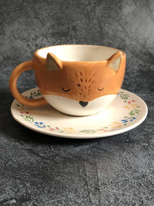 fox cup and saucer set