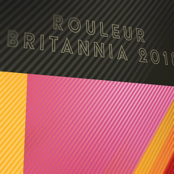 Froome, Thomas and Yates Cycling Poster Print - Rouleur Britannia. Celebrating the unique 2018 Grand Tour treble, when british riders completed a clean sweep of the three Grand Tours. The hat-trick