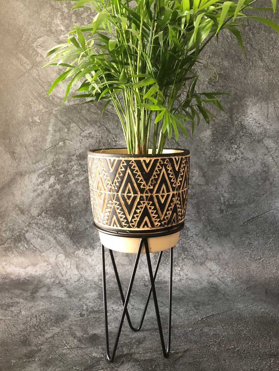 Geometric Pattern Planter classic homeware Sass and Belle