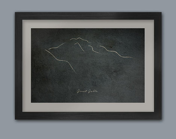 Great Gable Sketch Poster print