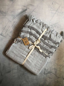 grey textured throw