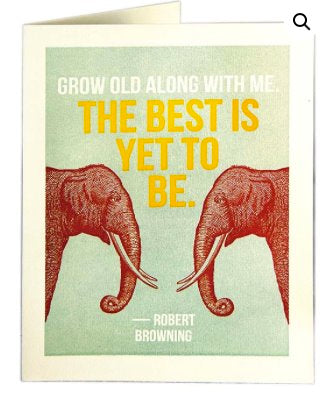 Grow Old With Me - Blank Greeting Card card The Northern Line