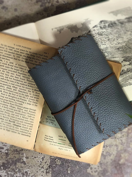 Handmade in Cumbria - Leather Notebooks Gift The Northern Line