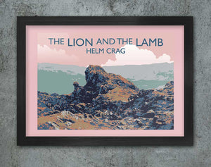 LION AND THE LAMB RETRO POSTER PRINT