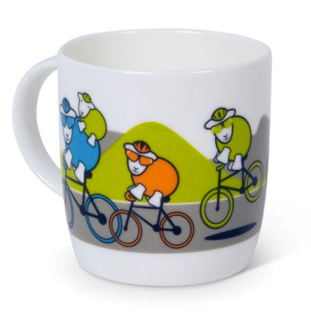 hardy cycling mug