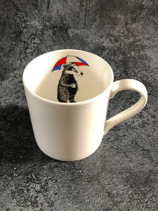 hidden badger mug