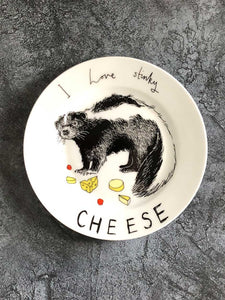 i like stinky cheese side plate
