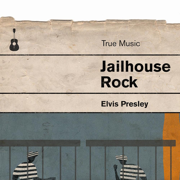 Jailhouse Rock - Elvis Book Jacket Print. Inspired by the old retro Penguin book covers