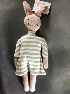 striped organic knitted bunny