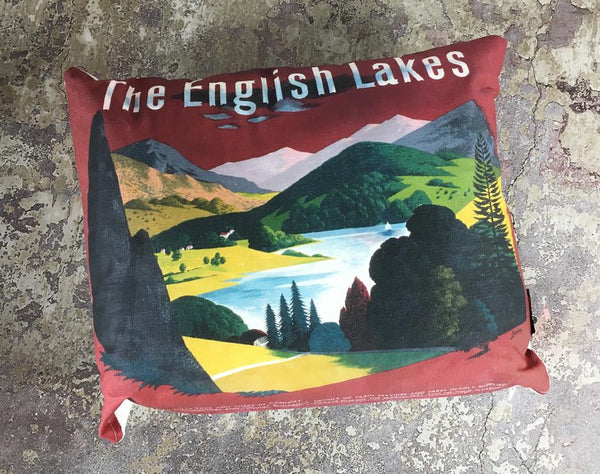 Lake District Cushions classic homeware The Northern Line green
