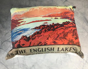 Lake District Cushions classic homeware The Northern Line red