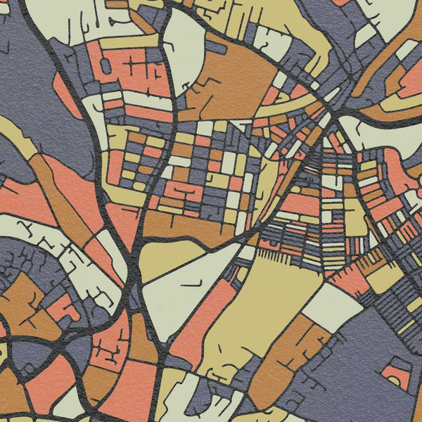 Street map style poster of Leeds