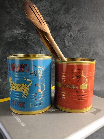 leopard design storage tins
