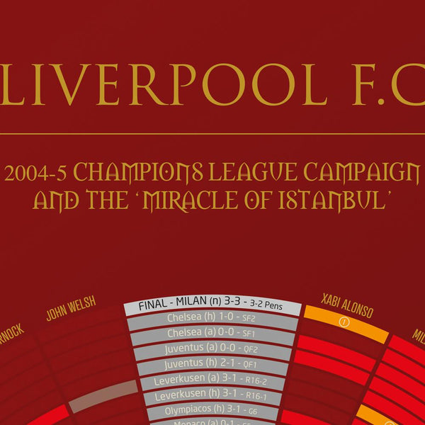 LIVERPOOL '05 The Miracle of Istanbul Detail 1