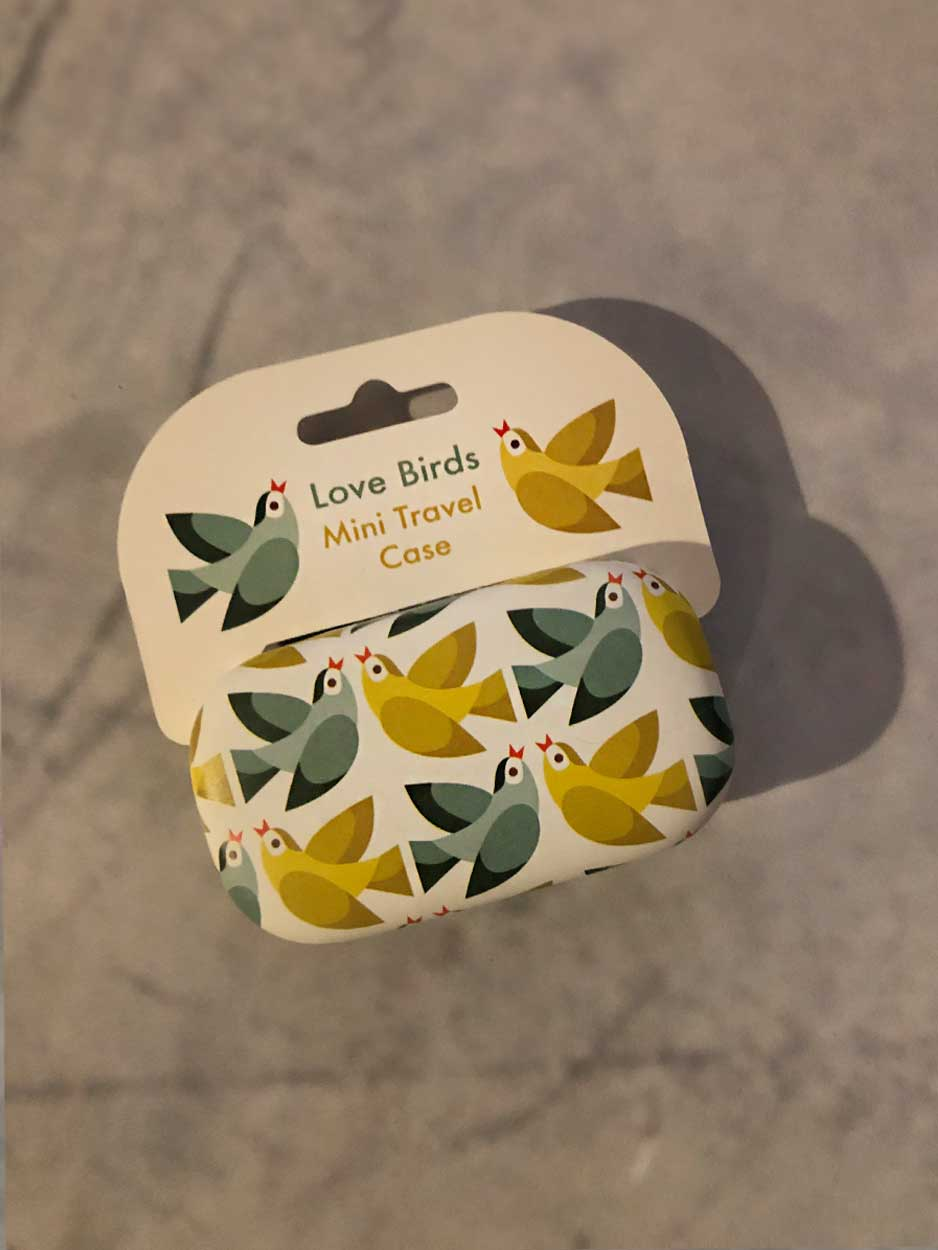 Love Birds Mini Travel Case
