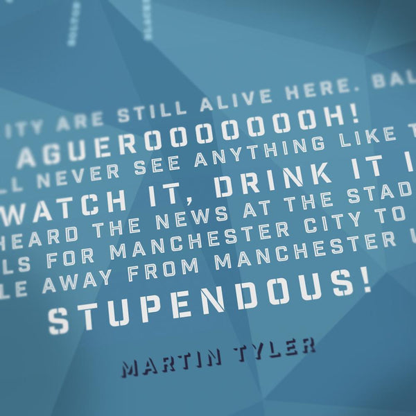 Manchester City - Aguerooooh! Posters The Northern Line