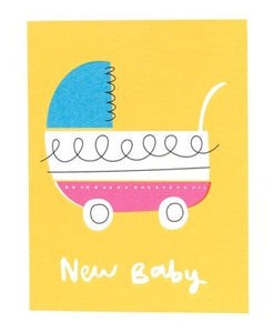 New Baby Pram Greeting Card Baby The Northern Line