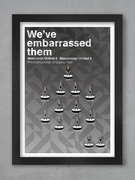 NEWCASTLE UNITED 5 Manchester United 0 - Football Poster Print
