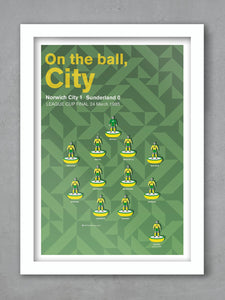 Norwich City 85 - Football Poster Print