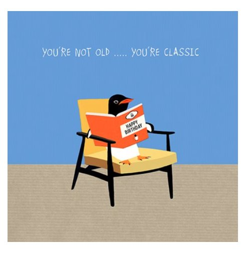 Penguin Classic Birthday - Blank Greeting Card card The Northern Line