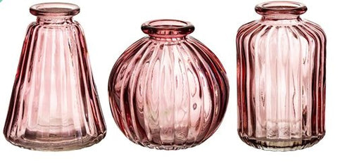 pink glass bud vase