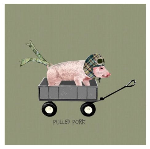 Pulled Pork - Blank Greeting Card card The Northern Line