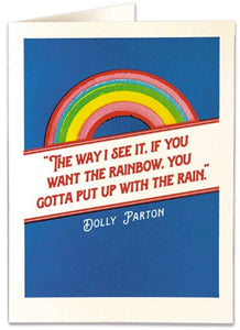 Rainbow Quote - Blank Greeting Card card The Northern Line