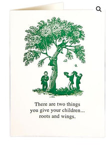 Roots and Wings Card Baby The Northern Line