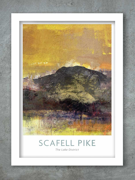 Scafell Pike 3 Peaks Poster