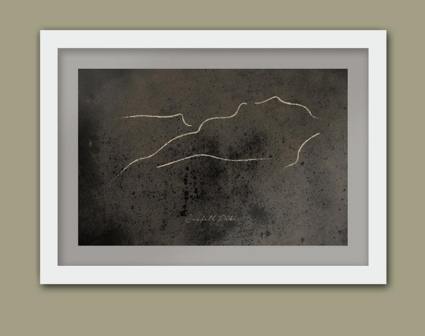 Scafell Pike sketch Poster print Posters The Northern Line