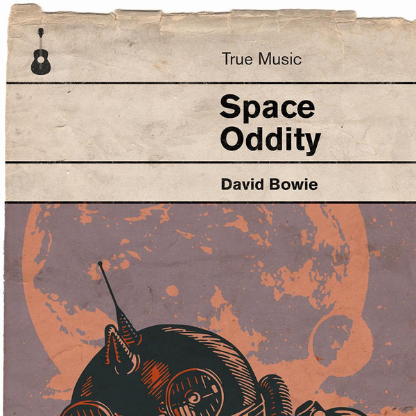 Space oddity - David Bowie Book Jacket Print. Inspired by the old retro Penguin book covers