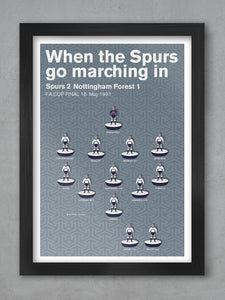 Spurs 1991 FA Cup Final- Football Poster Print