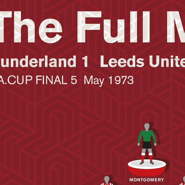 Sunderland 1973 FA Cup Final - Football Poster Print