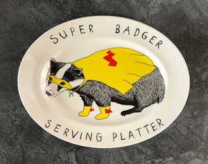 Super Badger Serving Platter classic homeware jimbobart