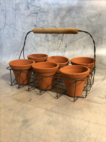 terracotta herb planter