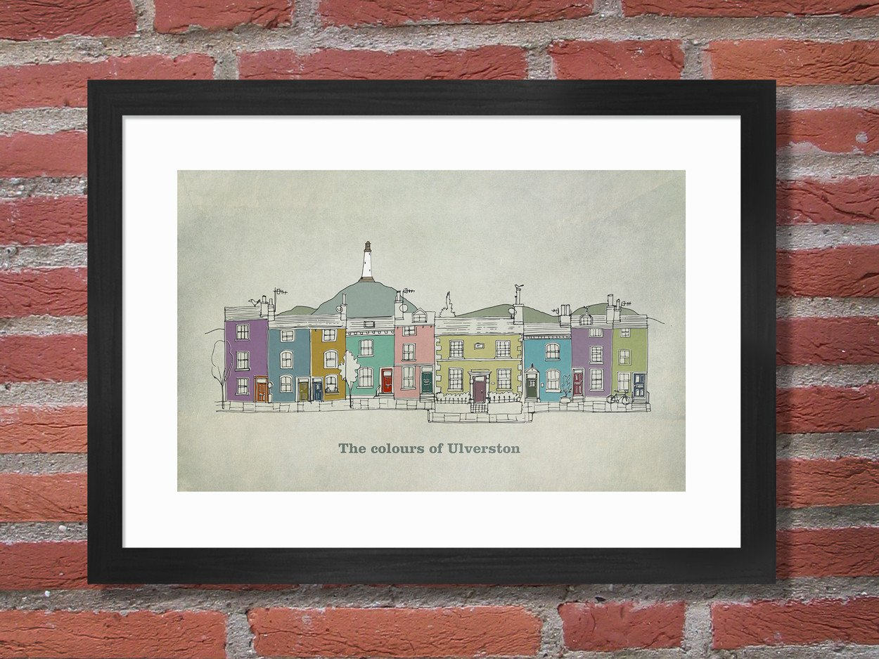 The Colours of Ulverston Poster Print