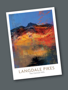 The Lake District Fells Greeting Cards card The Northern Line Langdale