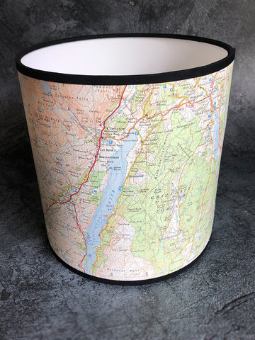 lake district map shade
