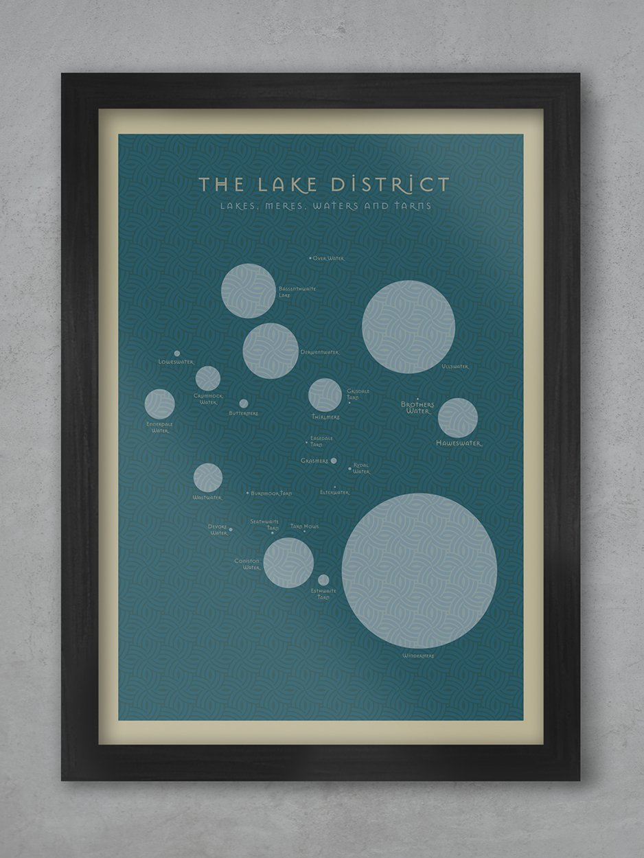 The Lakes - Lake District Print Posters The Northern Line