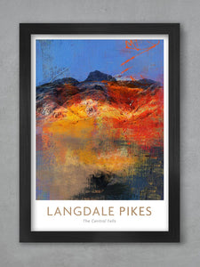 langdale Pikes Lake District print