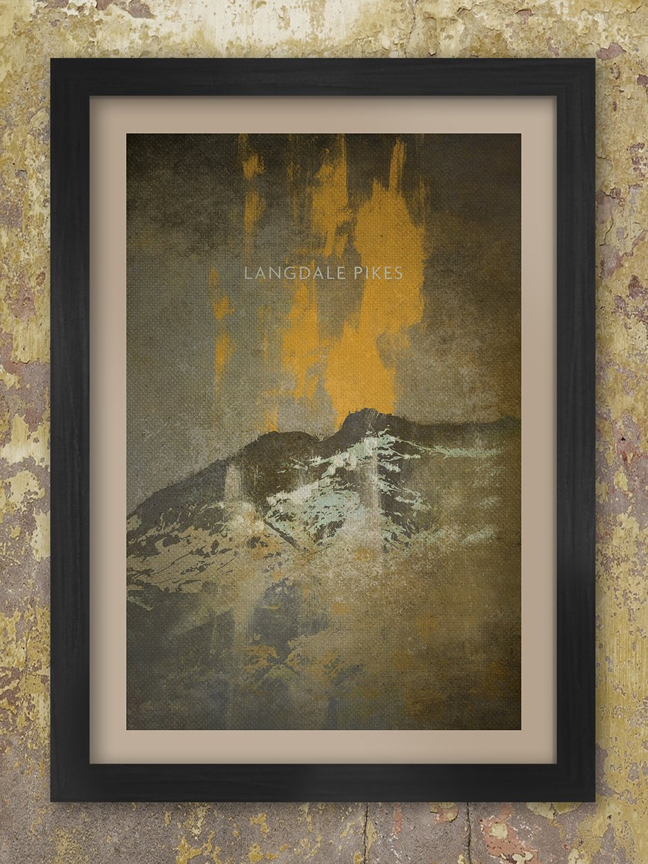 The Langdale Pikes Stormbreak Print