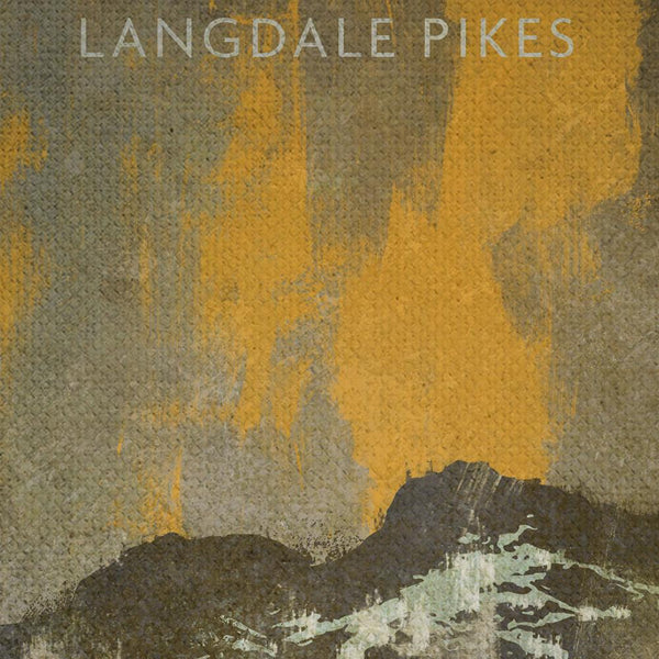 The Langdale Pikes Stormbreak Print detail
