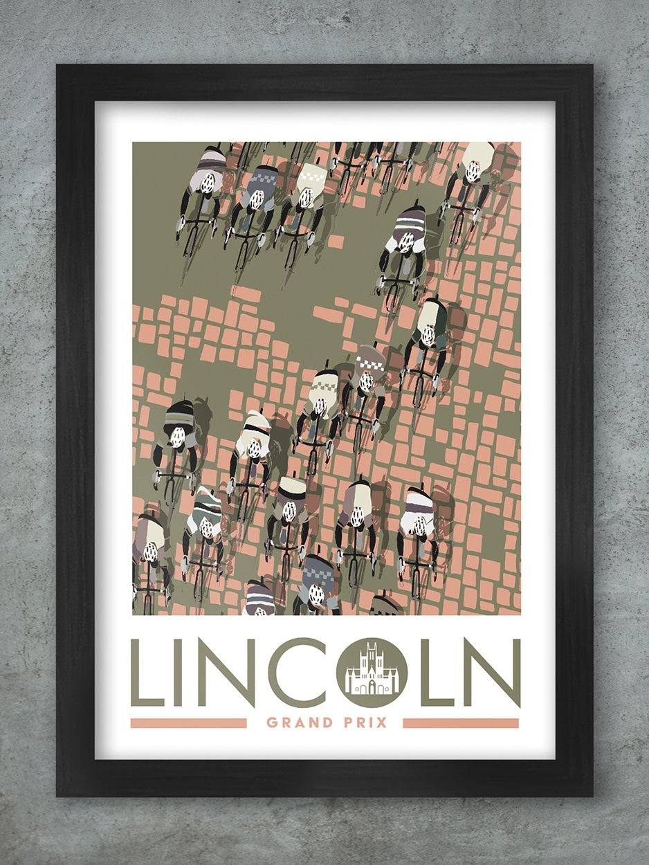 The Lincoln Grand Prix - Cycling Poster print Posters The Northern Line